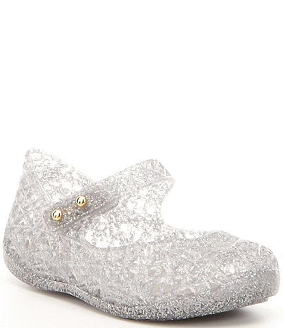 Mini Melissa Girls' Campana VI Zig Zag Glitter Mary Janes (Infant)