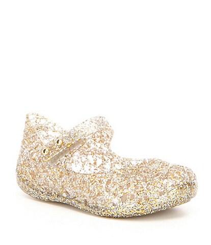 Mini Melissa Girls' Campana VI Zig Zag Glitter Mary Janes