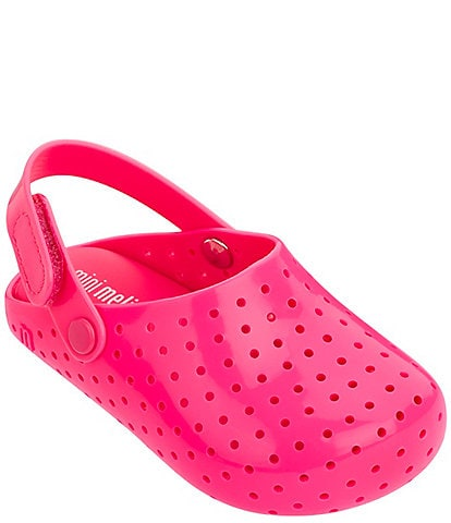 Mini Melissa Girls' Furadinha Babouche Clogs Toddler