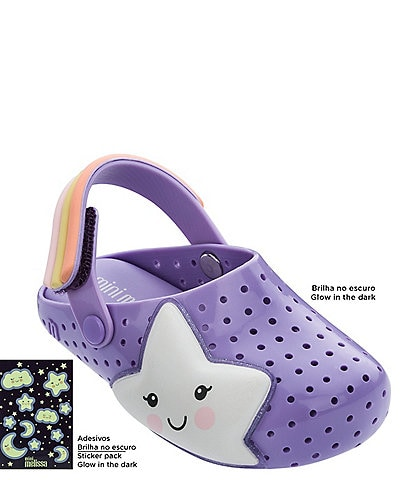 Mini Melissa Girls' Furadinha Babouche Sweet Dreams Waterproof Clogs Toddler