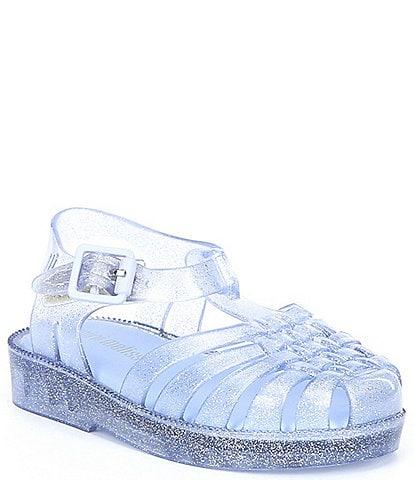 Mini Melissa Girl's Mini Possession Glitter Fisherman Sandals (Infant)
