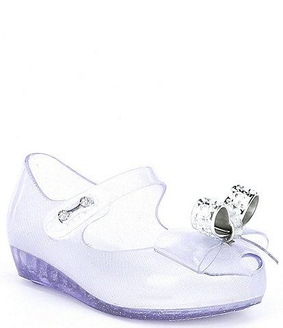 Mini Melissa Girl's Mini Ultra Girl Stars BB Bow Detail Glitter Peep Toe Mary Janes (Infant)