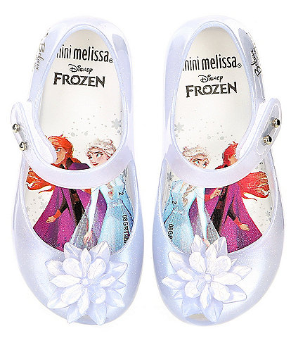 Mini Melissa Girls' Ultragirl + Frozen Peep Toe Mary Jane (Infant)