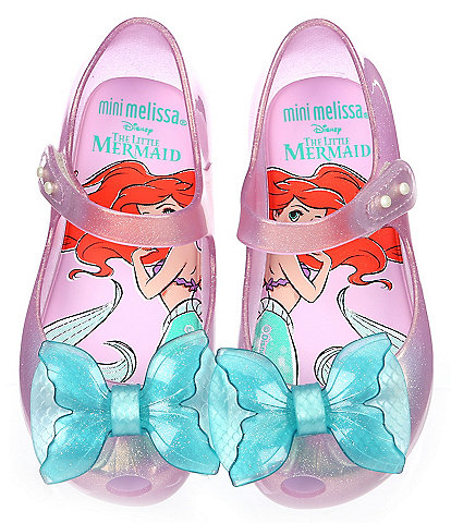 Mini Melissa Girls' Ultragirl + Little Mermaid Peep Toe Mary Jane (Infant)