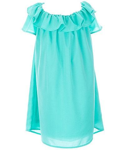 Mini Molly Big Girls 8-14 Ruffle-Sleeve Shift Dress