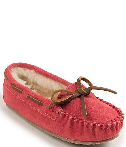 Minnetonka Kids' Cassie Suede Slippers (Youth)