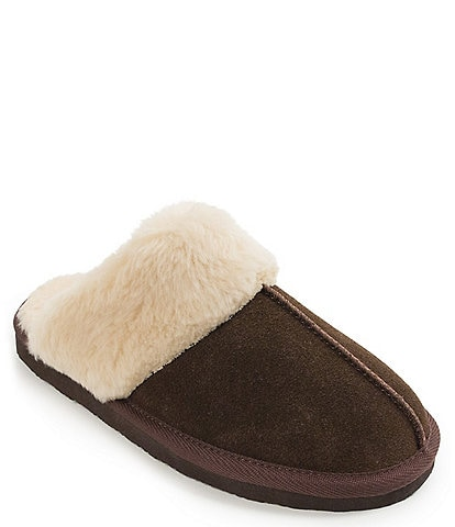 Minnetonka Chesney Faux Shearling Scuff Slippers