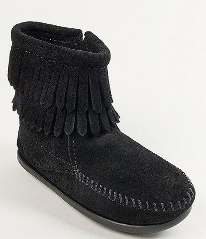 Minnetonka Girls' Double Fringe Suede Boots (Toddler)
