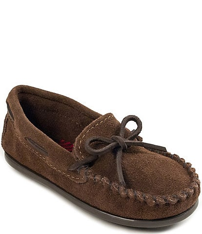 Minnetonka Kids' Boat Suede Moccasins (Youth)