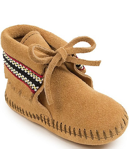 Minnetonka Kids' Braid Bootie Crib Shoe (Infant)