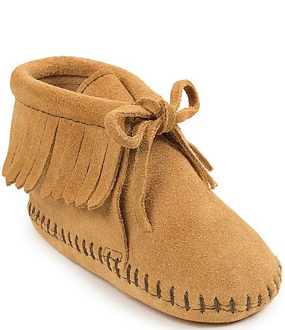 Minnetonka Kid's Fringe Bootie Crib Shoe