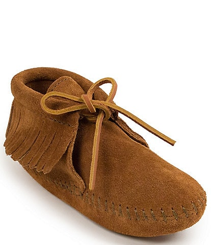 Minnetonka Kids' Suede Fringe Boot Softsole (Toddler)
