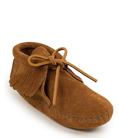 Minnetonka Kids' Suede Fringe Boot Softsole