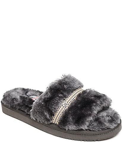 Minnetonka London Faux Fur Slides