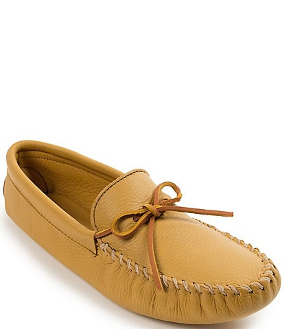 Minnetonka Men's Double Deerskin Leather Softsole Slipper