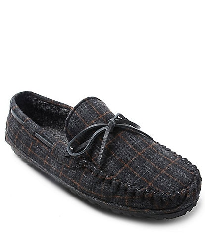 Minnetonka Men's Plaid Casey Slipper