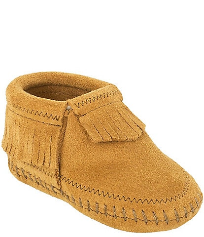 Minnetonka Kid's Riley Suede Fringe Detail Booties
