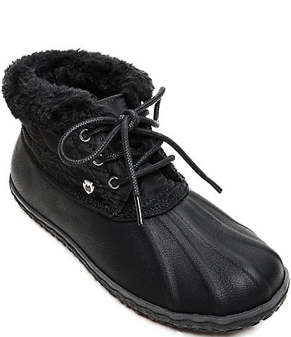 Minnetonka Women's Tega Faux Fur Trim Booties
