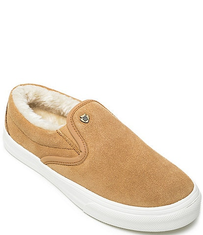 Minnetonka Women's Wilder Faux Fur Trim Sneakers