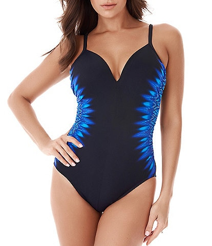 Miraclesuit Blue Curacao Underwire Temptation One Piece