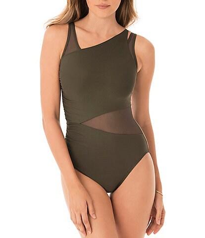 Miraclesuit Illusionist Azura Mesh One Piece Swimsuit