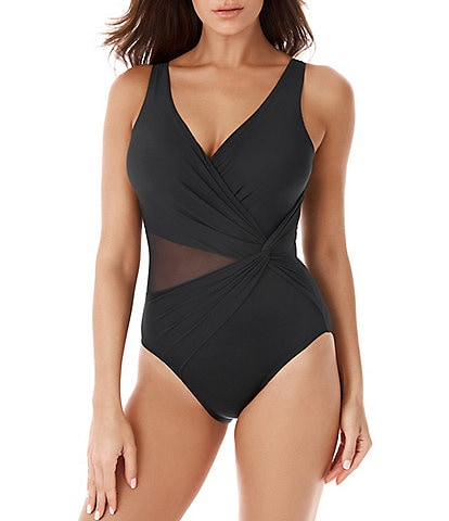 Miraclesuit Illusionists Circe Mesh Cut Out Detail One Piece