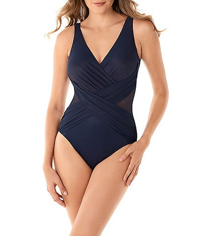 Miraclesuit Illusionists Crossover One Piece Swimsuit