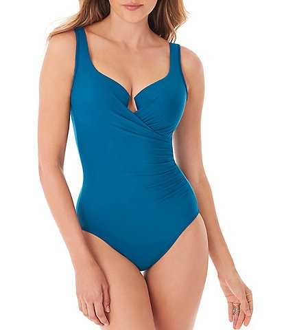 Miraclesuit Must Have Escape Underwire V-Neck One Piece Swimsuit