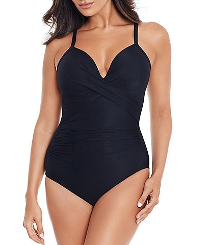 Miraclesuit Rock Solid Captivate Underwire Tummy Control One Piece Swimsuit