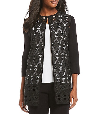 Misook 3/4 Sleeve Lace Topper Jacket