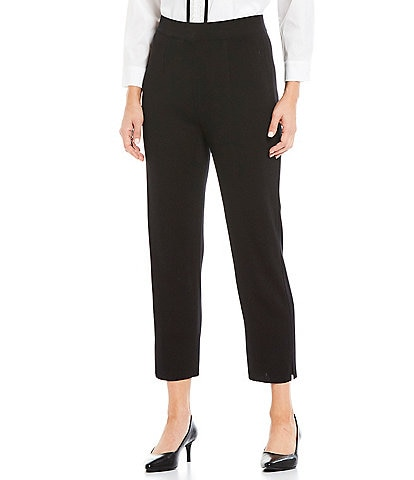 Misook Cropped Pull-On Pants