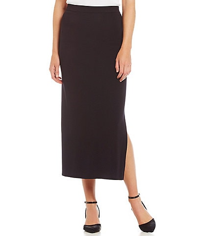 Misook Knit Wrinkle-Free Washable Midi Pencil Skirt