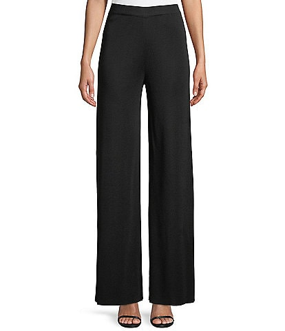 Misook Wrinkle-Free Knit Palazzo Pull-On Pant