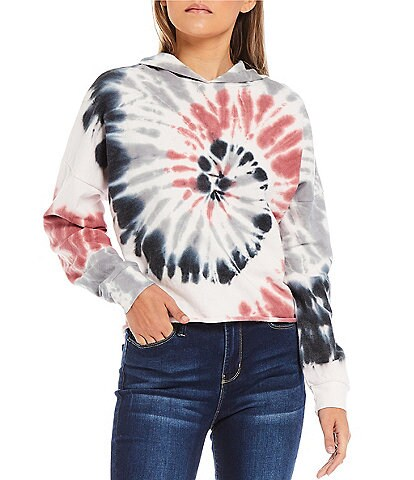 Miss Chievous Spiral Tie Dye Cropped Hoodie