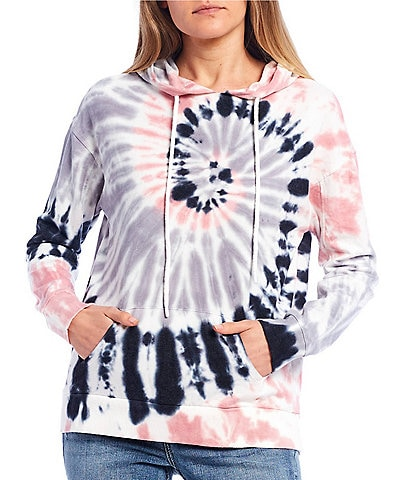 Miss Chievous Spiral Tie-Dye High Low Hoodie