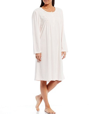 Miss Elaine Petite Solid Honeycomb Short Nightgown