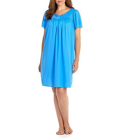 Miss Elaine Plus Tricot Short Gown