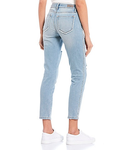 Miss Me Destructed Mid Rise Ankle Skinny Jeans