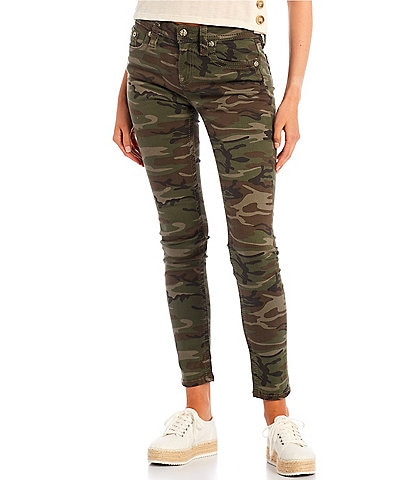 Miss Me Mid Rise Camo Skinny Jeans
