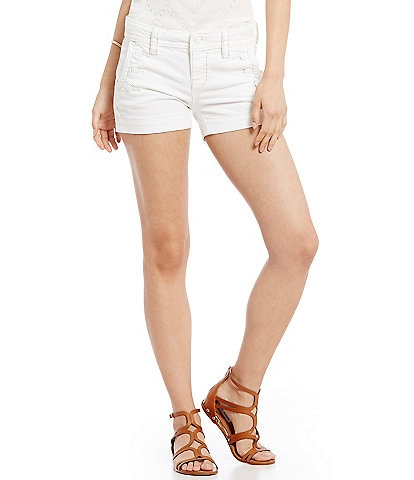 Miss Me Sailor Woven Stretch Denim Shorts