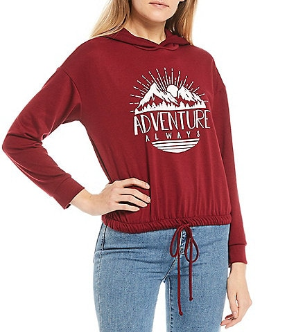 Moa Moa Adventure Always Drawstring Hoodie