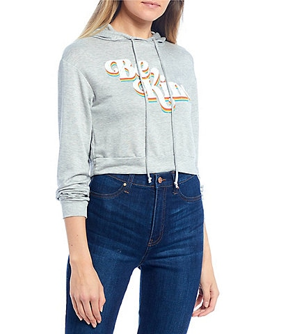 Moa Moa Be Kind Cropped Hoodie