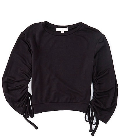Moa Moa Big Girls 7-16 Long Sleeve Cinched Arm Pullover
