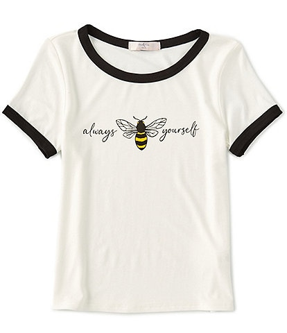 Moa Moa Big Girls 7-16 Short-Sleeve Always Bee Yourself Tee