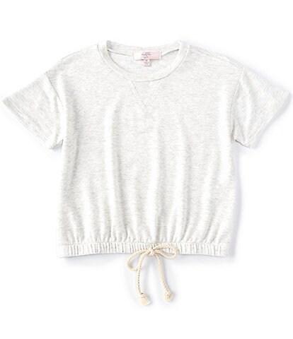 Moa Moa Big Girls 7-16 Short-Sleeve Drawstring-Waist Tee