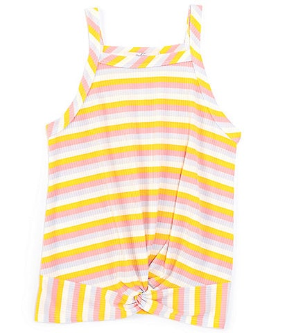 Moa Moa Big Girls 7-16 Striped Twist-Front Tank Top