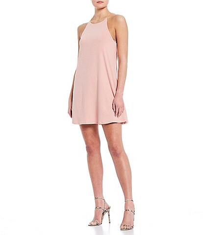 Moa Moa High Neck Trapeze Dress
