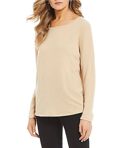 Moa Moa Long Sleeve Button Back Dolman Sweater