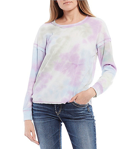 Moa Moa Tie-Dye Thermal Long Sleeve Top