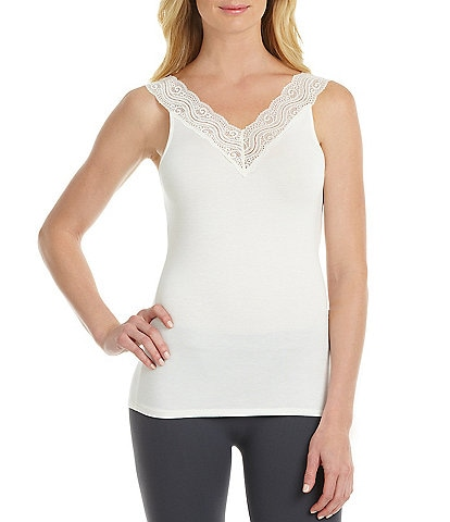 Modern Movement Reversible Lace-Trimmed Microfiber Camisole